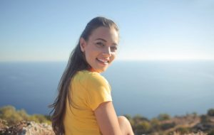 woman-wearing-yellow-shirt